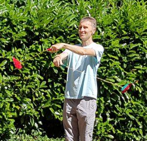 Stéphane jongle avec les kiwidos
