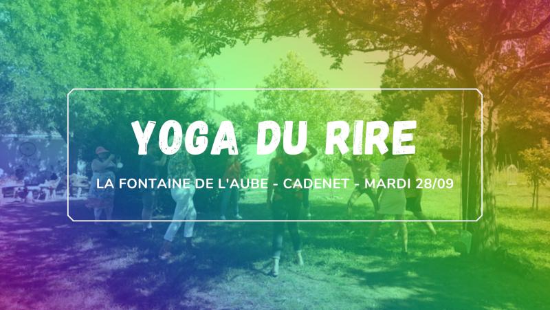 Yoga du rire à Cadenet le 28 septembre